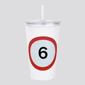 Speed sign 6 Acrylic Double-wall Tumbler