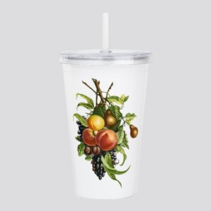 Peaches, Pears Grapes Acrylic Double-wall Tumbler