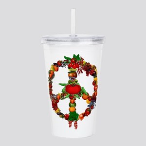 Veggie Peace Sign Acrylic Double-wall Tumbler