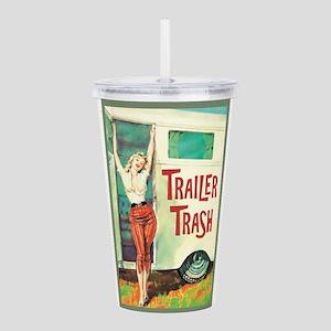 Trailer Trash Acrylic Double-wall Tumbler