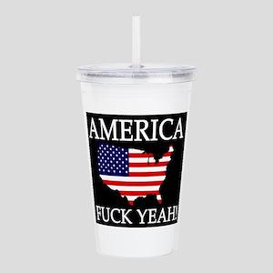 America Fuck Yeah Acrylic Double-Wall Tumbler