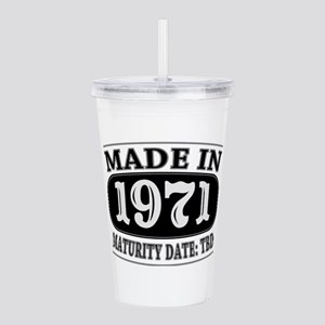 Made in 1971 - Maturit Acrylic Double-wall Tumbler