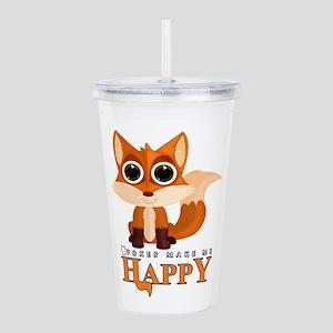Foxes Make Me Happy Acrylic Double-wall Tumbler