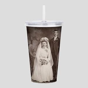 1800s bride groom anti Acrylic Double-wall Tumbler