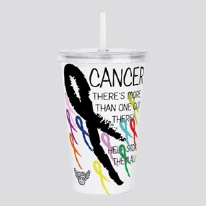 Cancer more than one Acrylic Double-wall Tumbler