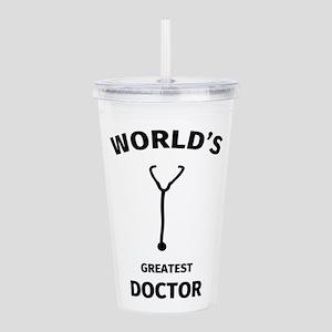 worlds greatest doctor Acrylic Double-wall Tumbler