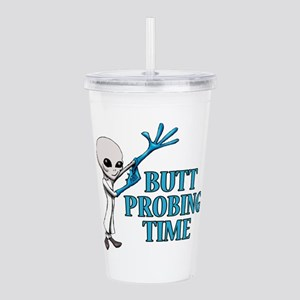 BUTT PROBING TIME Acrylic Double-wall Tumbler