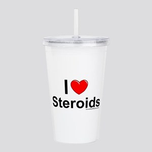 Steroids Acrylic Double-wall Tumbler