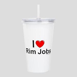 Rim Jobs Acrylic Double-wall Tumbler