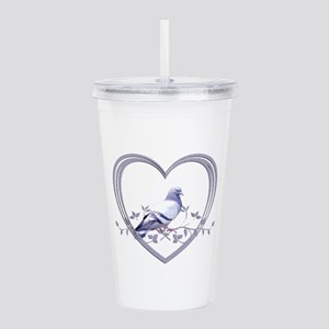 Pigeon in Heart Acrylic Double-wall Tumbler