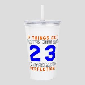 23 I'm Approaching Per Acrylic Double-wall Tumbler