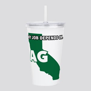 My Job Depends On Ag Acrylic Double-Wall Tumbler