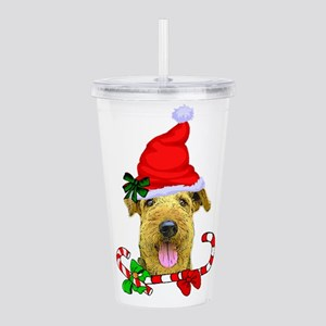 Airedale Terrier Chris Acrylic Double-wall Tumbler