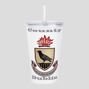 County Dublin Coat of Arms Acrylic Double-wall Tum