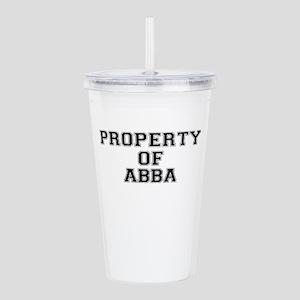Property of ABBA Acrylic Double-wall Tumbler