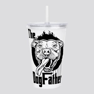The Pit Bull Dogfather Acrylic Double-wall Tumbler