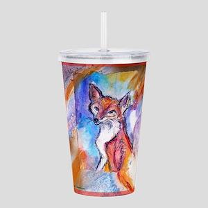 Fox, wildlife art! Acrylic Double-wall Tumbler