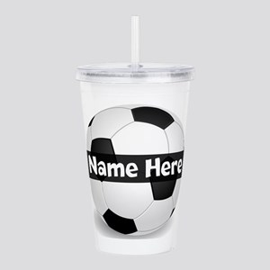 Personalized Soccer Acrylic Double-Wall Tumbler