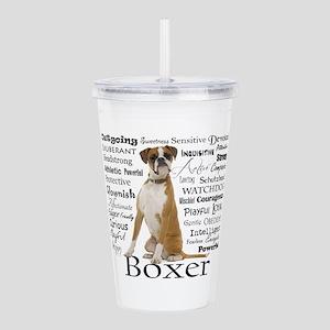 Boxer Traits Acrylic Double-wall Tumbler