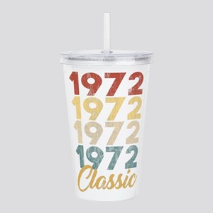 Vintage Retro Born In Acrylic Double-wall Tumbler
