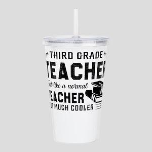 3rd Grade Teacher Acrylic Double-wall Tumbler