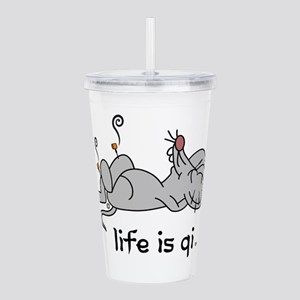 Life is Qi Mouse Acupuncture Moxa Acrylic Double-w