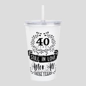 40th Anniversary Acrylic Double-wall Tumbler
