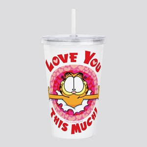 Love You This Much! Acrylic Double-Wall Tumbler