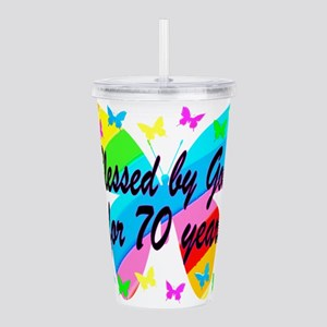 70TH BLESSING Acrylic Double-wall Tumbler