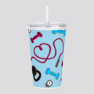 Fitness Love Pattern Blue and Purple Acrylic Doubl