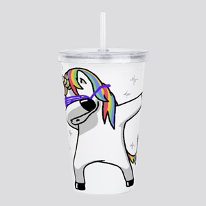 unicorn dabbing Acrylic Double-wall Tumbler