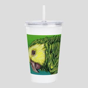 Yellow Head Amazon Parrot Acrylic Double-wall Tumb