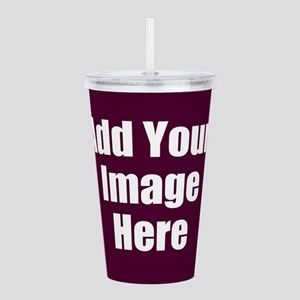 Add Your Image Here Acrylic Double-wall Tumbler