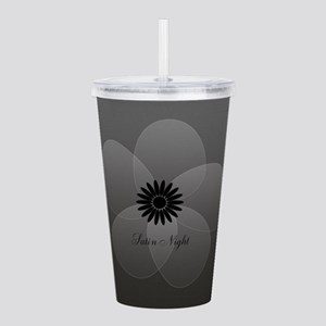 Chic Glam Grey Flower Acrylic Double-wall Tumbler