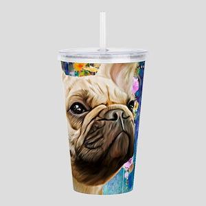 French Bulldog Painting Acrylic Double-wall Tumble