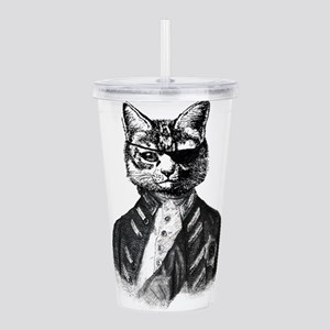Vintage Pirate Cat Acrylic Double-wall Tumbler
