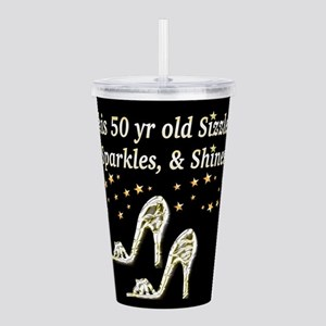 GLAMOROUS 50TH Acrylic Double-wall Tumbler