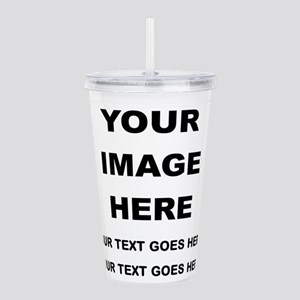 Your Photo and Text Here T Shirt Acrylic Double-wa