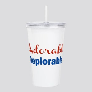 Adorable DEPLORABLE Acrylic Double-wall Tumbler