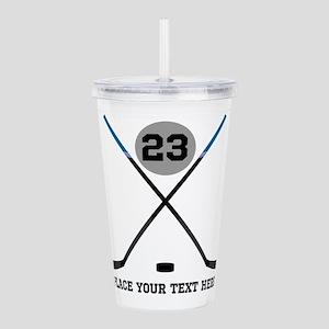 Ice Hockey Personalize Acrylic Double-wall Tumbler