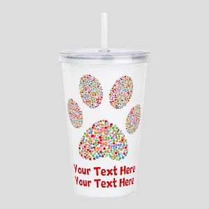 Dog Paw Print Customiz Acrylic Double-wall Tumbler
