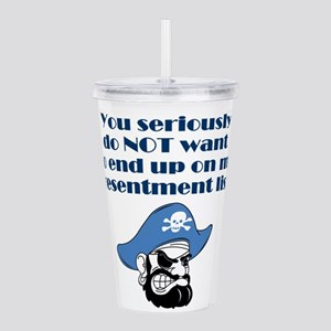 resentment-pirate Acrylic Double-wall Tumbler