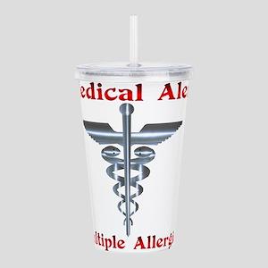 Multipe Allergies Medical Alert Acrylic Double