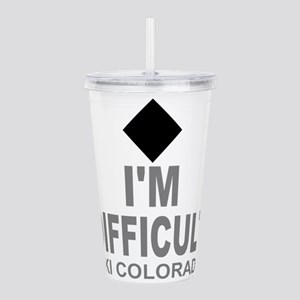 I'm Difficult Ski Colorado Acrylic Double-wall Tum