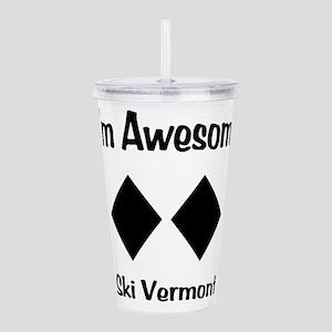 I'm Awesome Ski Vermont Acrylic Double-wall Tumble