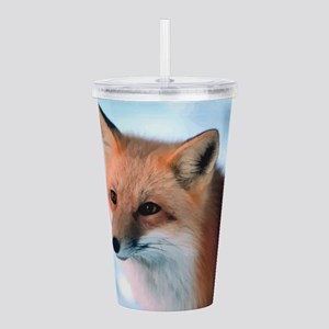 Cute Fox Acrylic Double-wall Tumbler