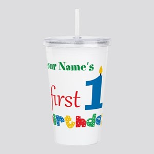 First Birthday - Perso Acrylic Double-wall Tumbler