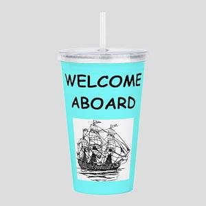 welcome aboard Acrylic Double-wall Tumbler