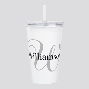 CUSTOM Initial and Nam Acrylic Double-wall Tumbler