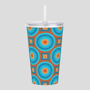 Orange and Blue Mid Century Modern Acrylic Double-